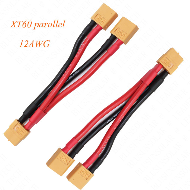 50pcs lot XT60 parallel Y leads 12awg silicone wire For RC Lipo Battery