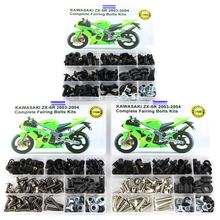 Fit For Kawasaki ZX 6R ZX-6R ZX-6RR ZX 6RR 2003 2004 Motorcycle OEM Style Fairing Bolts Clips Washer Nut Fastener Bodywork Steel