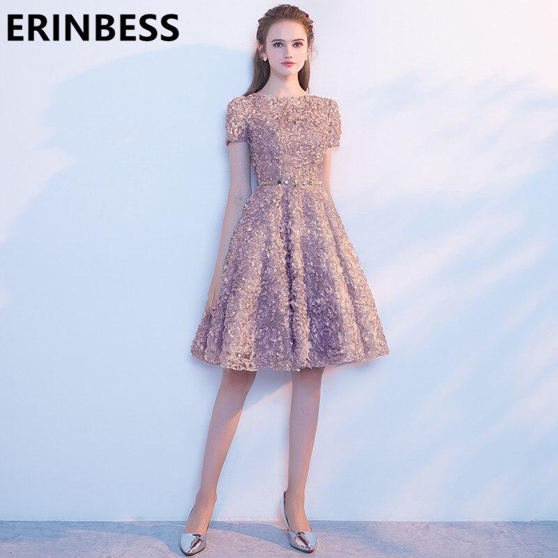 Vestido De Festa Kurze Prom Kleider Champagner Luxus Perlen Knie Länge Frauen Formale Party Kleider 2019