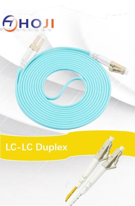 20M LC-LC Duplex 50/125 Multimode 10 Gb Fiber Patch Cable Aqua OM3