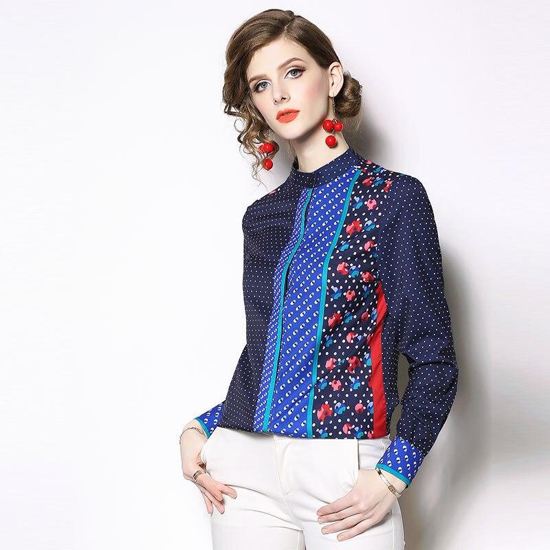 10e2f0ae6 Dama Camiseta 2019 Casuales De Elegante Borisovich Mujeres Blusas Larga  N520 Camisas Moda Oficina Collar Nuevo Blue Manga Primavera ...