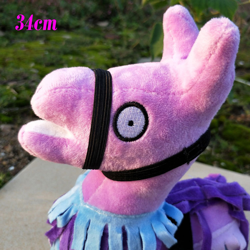 2018 Hot Game Fortnite Troll Stash Llama Plush Dolls Big Size Animal Action Figure Toys Rainbow Horse for Kids Birthday Gifts