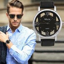 Durable Fashion watch men reloj hombre Luxury Men's Leather Strap Analog Quartz Sports Wrist Watch Watches