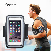 купить Oppselve BLACK Waterproof Gym Sports Running Armband For iPhone Xs Max XR X 5 5s  SE 6 6s 7 plus Samsung Arm Band Phone Bag Case дешево
