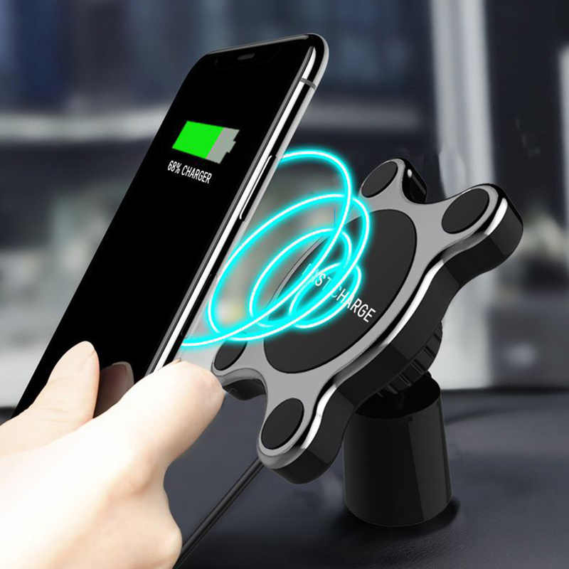 Car Wireless Charger Magnet Car Phone Holder Qi Wireless Car Charger Fast Charging For iPhone XR XS Samsung S9 S8 Note 9