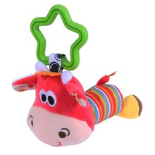 Cute Baby Kids Rattle Toys Tinkle Hand Bell