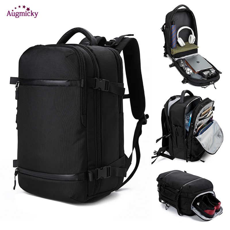 """Мужской рюкзак для путешествий 17 """"20"""" дюймов ноутбук багажные рюкзаки водоотталкивающая многофункциональная сумка usb зарядка Большие женские Mochila"""