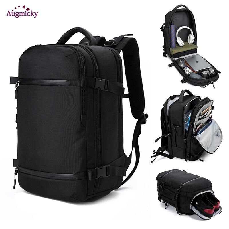 Men Travel Backpack for 17 20 inch Laptop Luggage Backpacks Water Repellent Multifunction Bag USB Charging Large Women Mochila