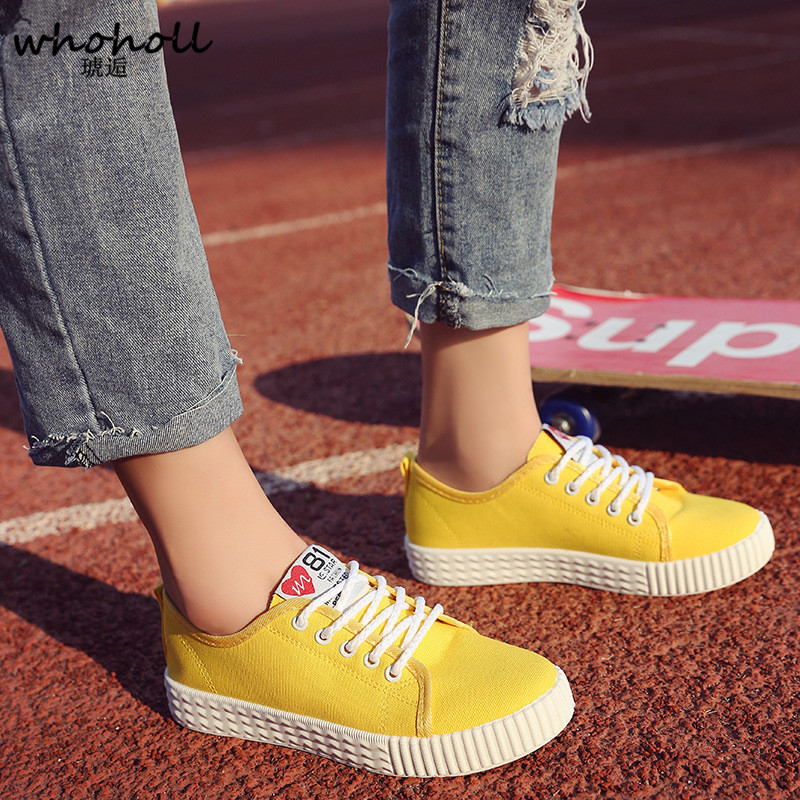 2018 Women Vulcanize Shoes Lace-up Breathable Trainers Women Casual Walking Shoes Fashion Lace Up Canvas Shoes Woman Sneakers de la chance women vulcanize shoes platform breathable canvas shoes woman wedge sneakers casual fashion candy color students