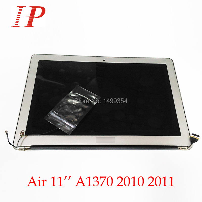 100% Genuine New 2011 Year A1370 LCD Screen Assembly For Apple Macbook Air 11'' A1370 LCD Assembly 1366*768 MC968 MC969 a1369 new original a1369 assembly for apple macbook air 13 lcd display assembly a1369 a grade new and original 2011 year