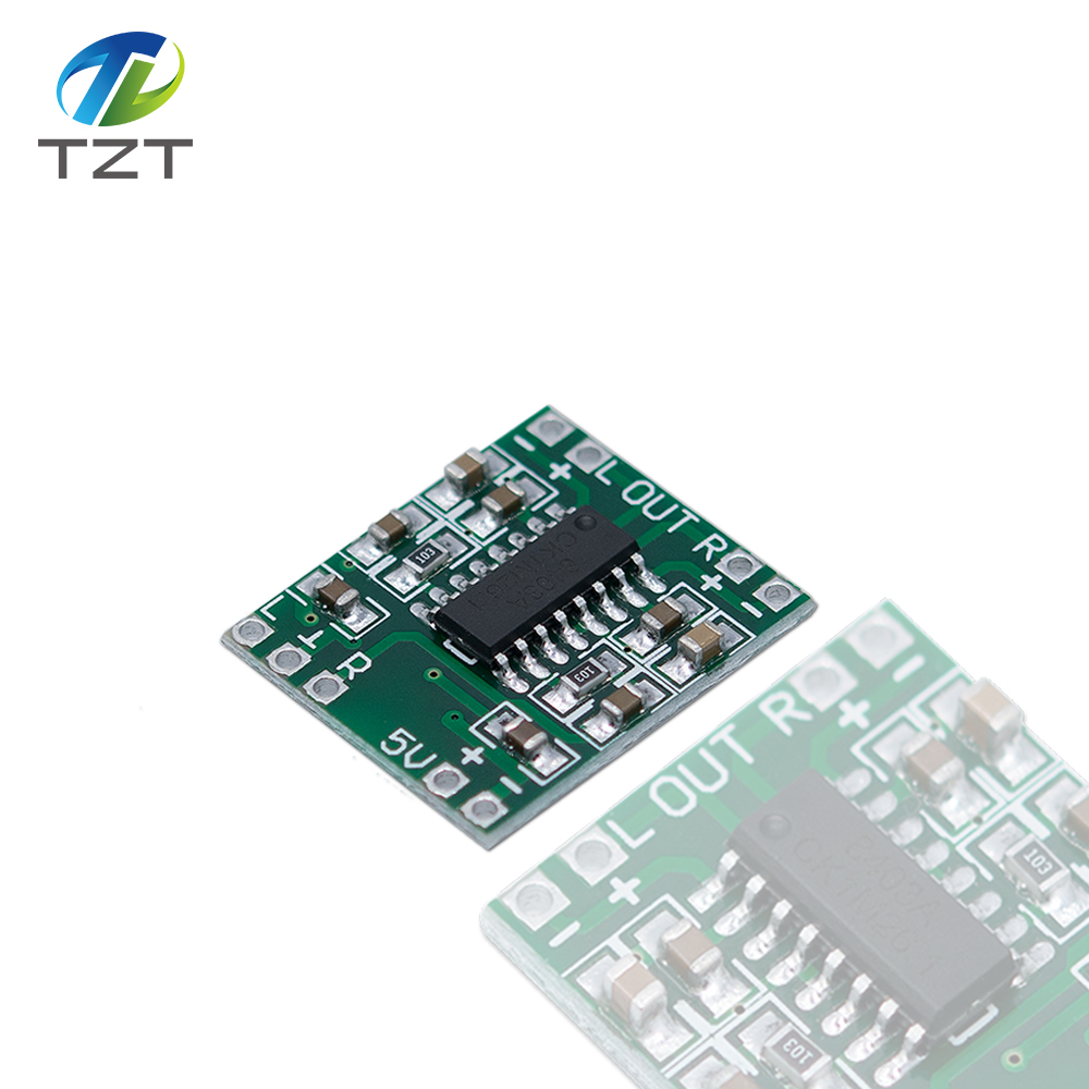 US $1 03 6% OFF 5PCS PAM8403 Super mini digital amplifier board 2 * 3W  Class D digital amplifier board efficient 2 5 to 5V USB power supply-in