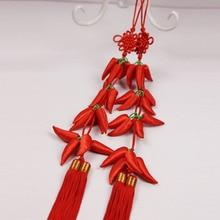 DIY Tassel Fringe Chinese Knots 10pcs Pepper Knot Tassels Pendants New Year Spring Festival Wedding Supplies Friend Gift