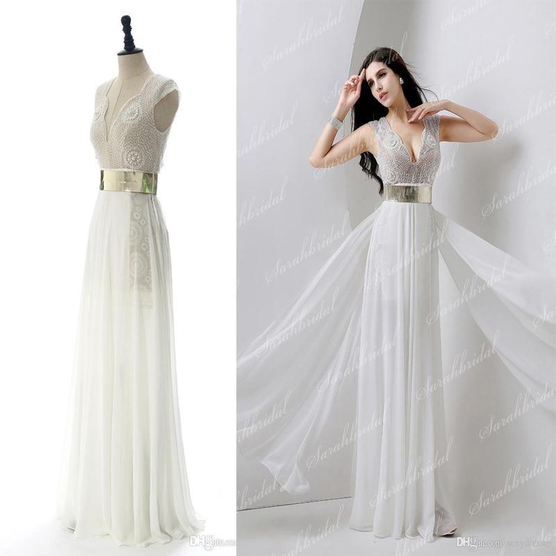95 wedding dress gold belt discount in stock
