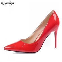 7 CM New Fashion Genuine Leather Pumps Plus Size 33-42 Ladies Office Casual Pointed Toe 7CM Womens Shoes High Heels XZL-A0000 2017new big size 33 42 genuine leather womens shoes wedges pointed toe high heels women office