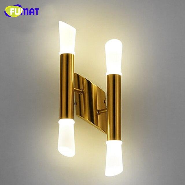 FUMAT Moderne Gold Metall LED Wandleuchten Ganglichter Flur Treppe ...