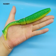 NOEBY  3PCS/LOT Big soft fishing lure 40g/17.5cm Jig Lures Magic T tail Artificial bait