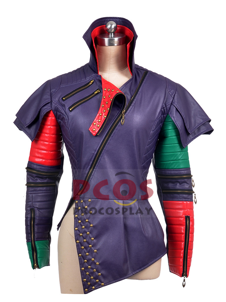 Здесь продается  Two Versions~ Descendants Mal Cosplay Costume Only Jacket crocodile & pu leather version  Одежда и аксессуары