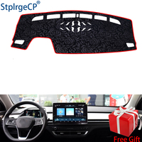 Latest Rose Pattern Non slip Car Dashboard Cover Dash Mat Pad DashMat ANti UV Car Sticker for BYD QIN pro DM 2018 Car Styling