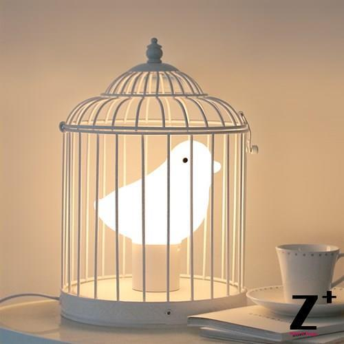 High Quality For Kid Lamp Korea Design Bird Cage Table Lamp Glass Blowing abajur