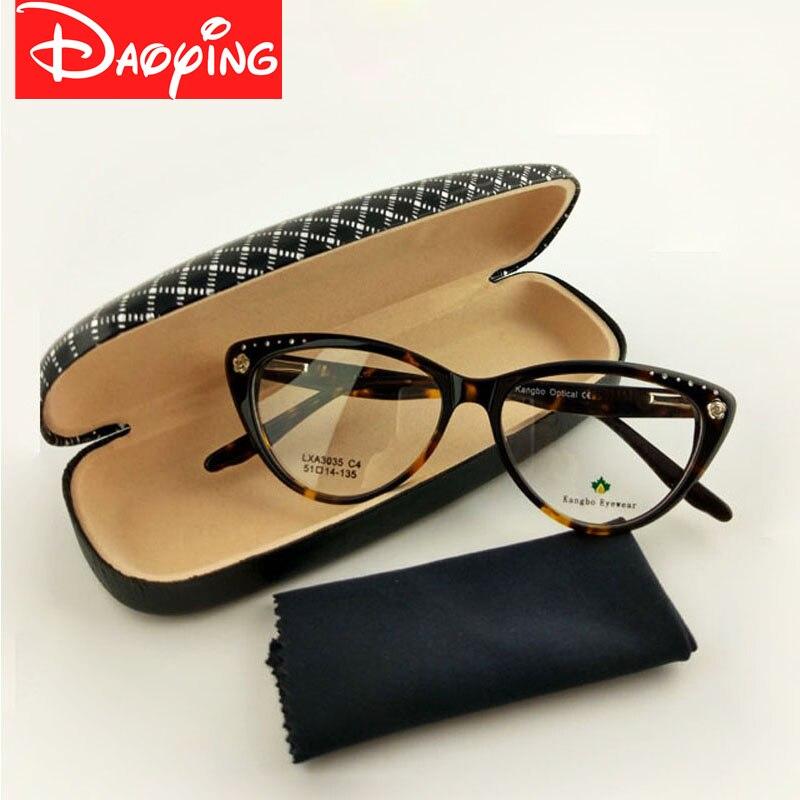 Új macska szemüvegkeretek очки acetát очки szép design - Ruházati kiegészítők