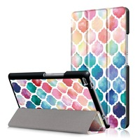 VTRONHYE Case For Lenovo TAB4 8 TB 8504F N 8 Inch Painted Tri Folded Stand Smart