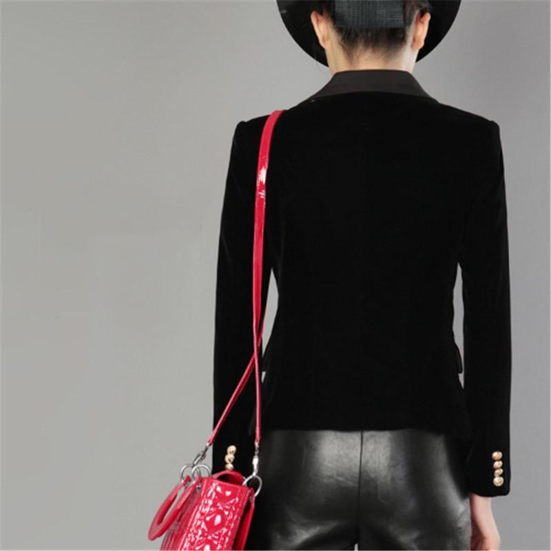 Pour Slim Bureau Fit Blazer A4018 Un Couleur À Manches Bouton Blazers Longues Femmes Black Solide Formelle Veste Travail Printemps Vêtements qMGVSUzLjp
