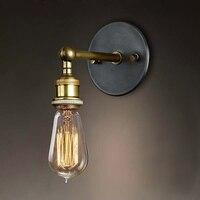 Vintage Wandleuchte Wandleuchte Loft wandleuchte Licht E27 Edison-birne Überzogen Eisen Retro Industrie Hause Beleuchtung Für Schlafzimmer