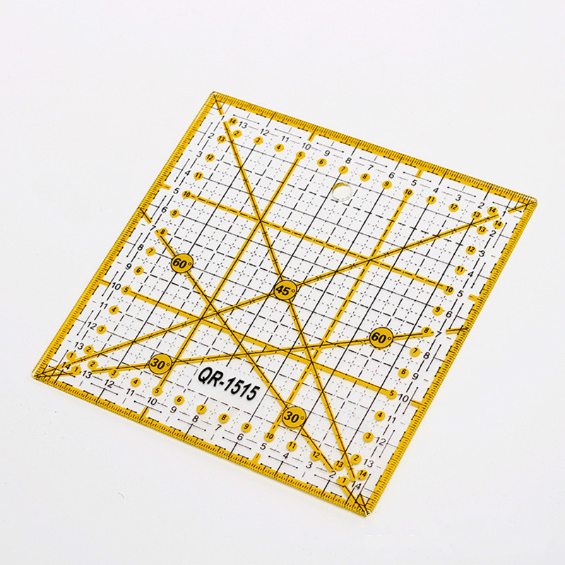 Sew Easy Rectangle Patchwork Rulers Qulting Sewing Cutting Tailor Tools 15*15cm