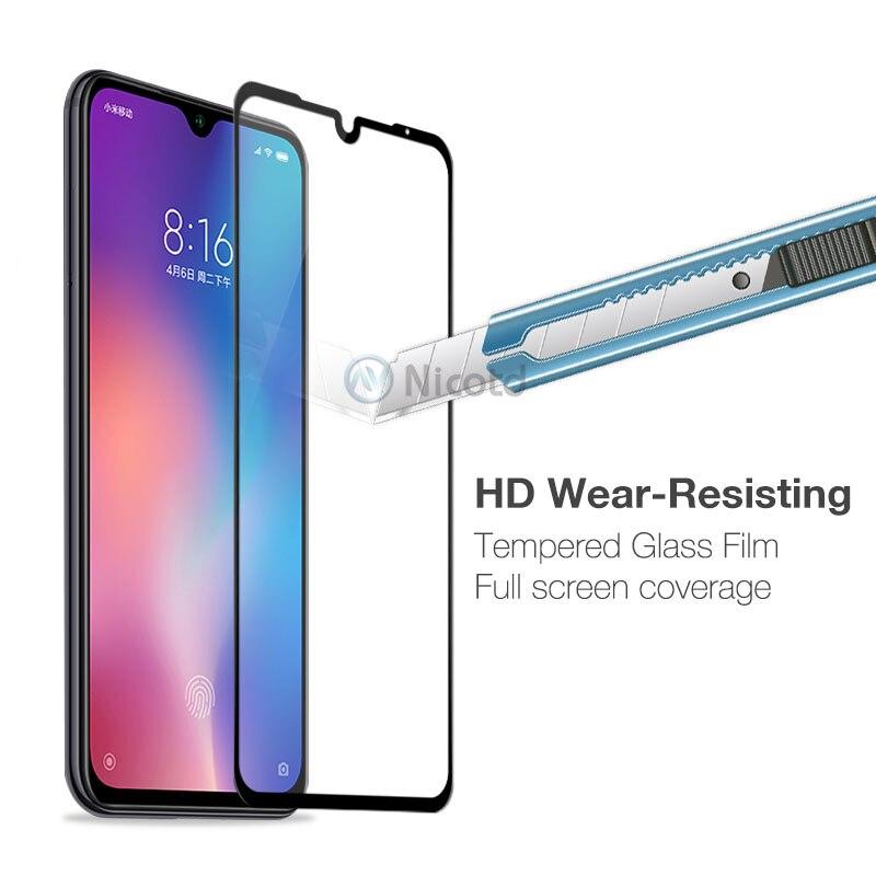 Tempered Glass For Xiaomi Mi 9 Mi8 SE 8lite 9H Screen Protector For Xiomi A2 lite 5X 6X Note7 Full Cover Glass Film Pocophone F1 (2)