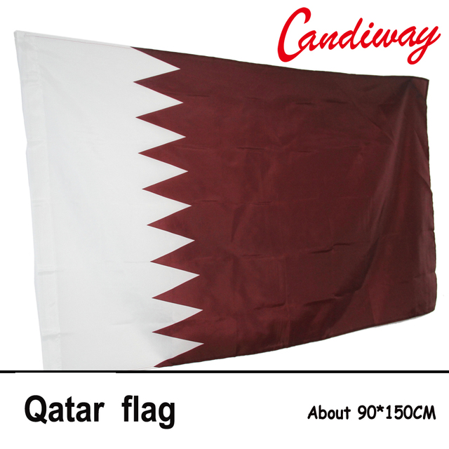 Qatar international country polyester flag 3 x 5 feet doha office activity parade