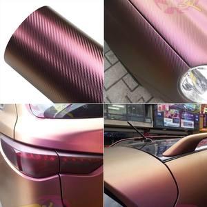 Image 4 - AuMoHall feuille dautocollant en vinyle, en Fiber de carbone, caméléon, feuille de voiture, 30cm x 152cm, pellicule de Film, stylisme dintérieur de voiture