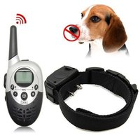 Free Shipping Rechargeable and Waterproof Dog Training Collar 1000M Range Remote Control Anti Bark Collar Shock+Vibra+Electric