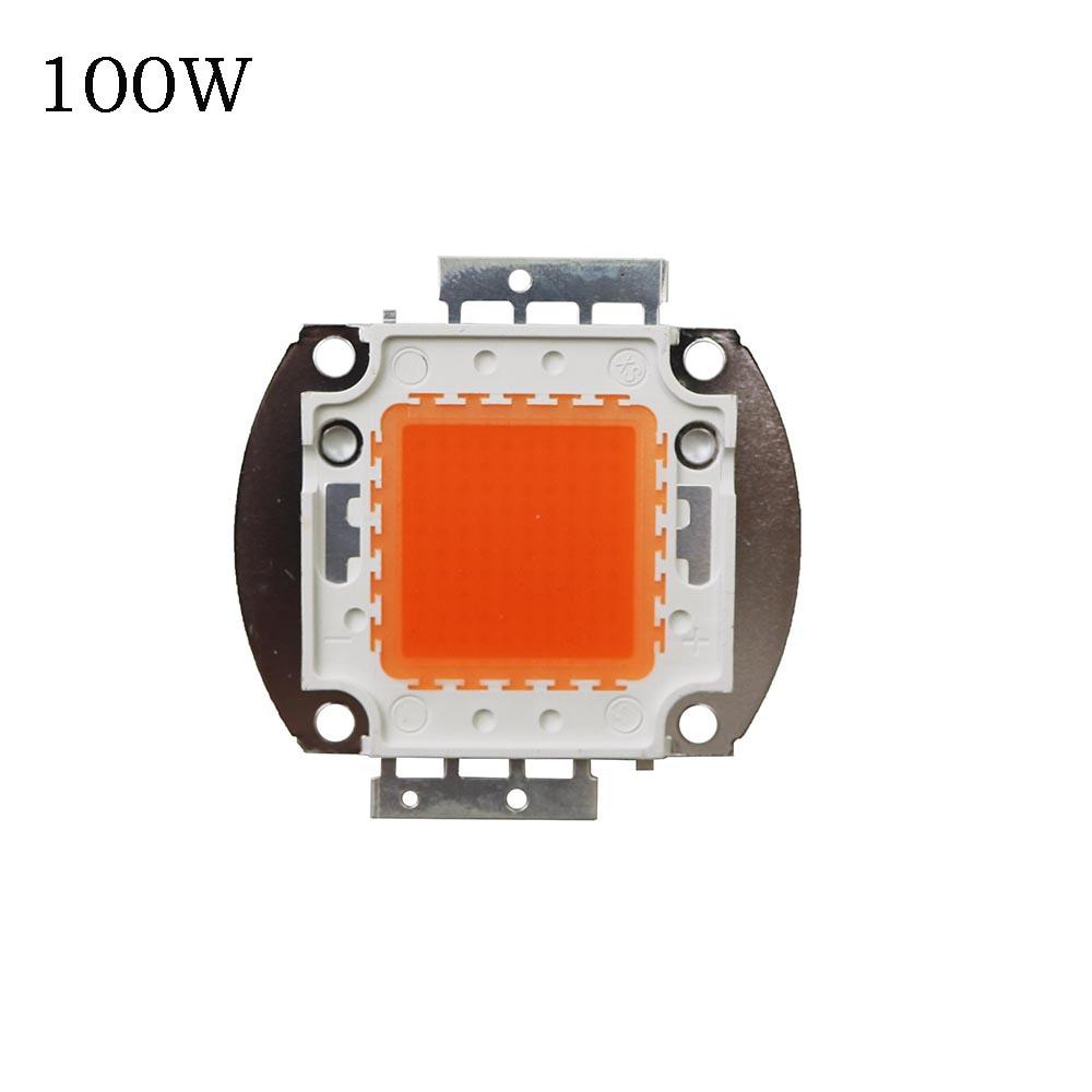 Černobílá LED CHIP 1W / 3W 10W / 20W / 30W / 50W / 100W Led Chip Chip.Epistar vedl čip celé spektrum 400nm-840nm pro pěstování pokojových rostlin 1PCS