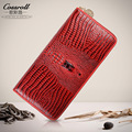 2017 Real Genuine Leather Wallet Women Luxury Brand Cowhide Alligator Pattern Ladies Purses Vintage Female Zipper Clutch Wallets