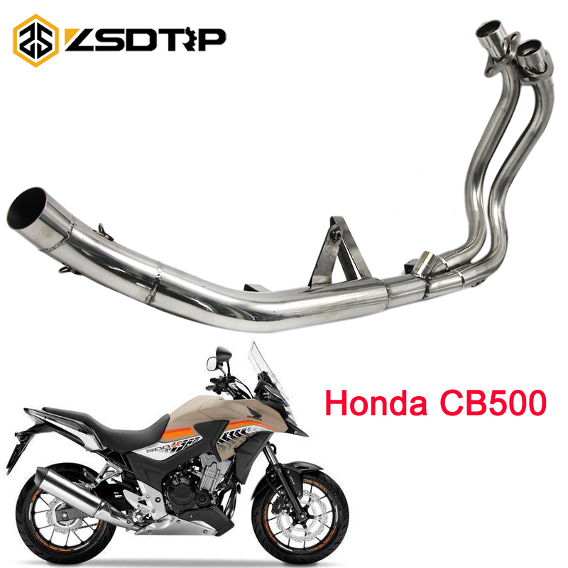 ZSDTRP 50.8mm Motorcycle Middle Pipe Full System For Honda