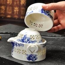 Tee-Set Enthalten 1 Topf 2 Tasse Hohe Qualität Elegante Gaiwan schön Und Einfach Teekanne Und Teetasse Reise Tee-Sets Wasserkocher FreeShipping
