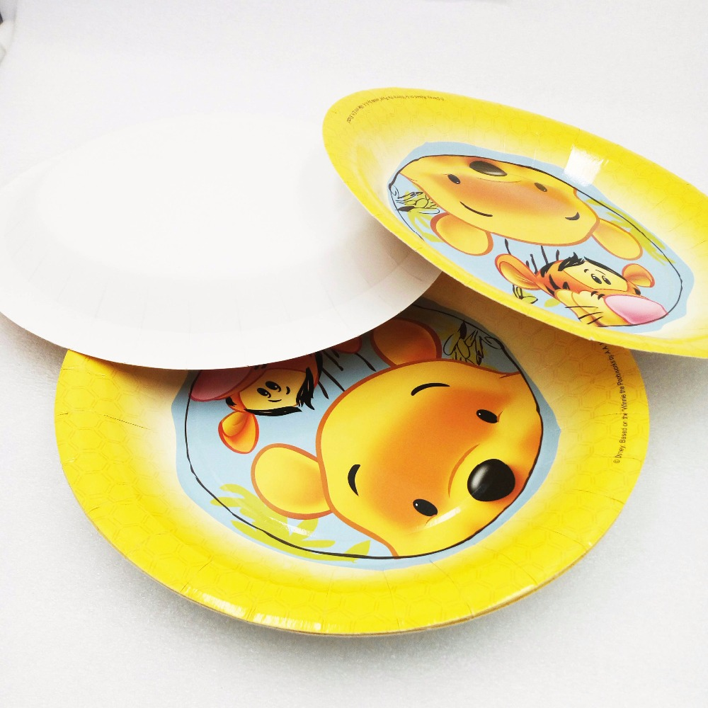 P71118-150046 P71118-150134 P71118-150422 ... & 9inch 6pcs Kids Favors Winnie the Pooh Baby Shower Tableware Paper ...