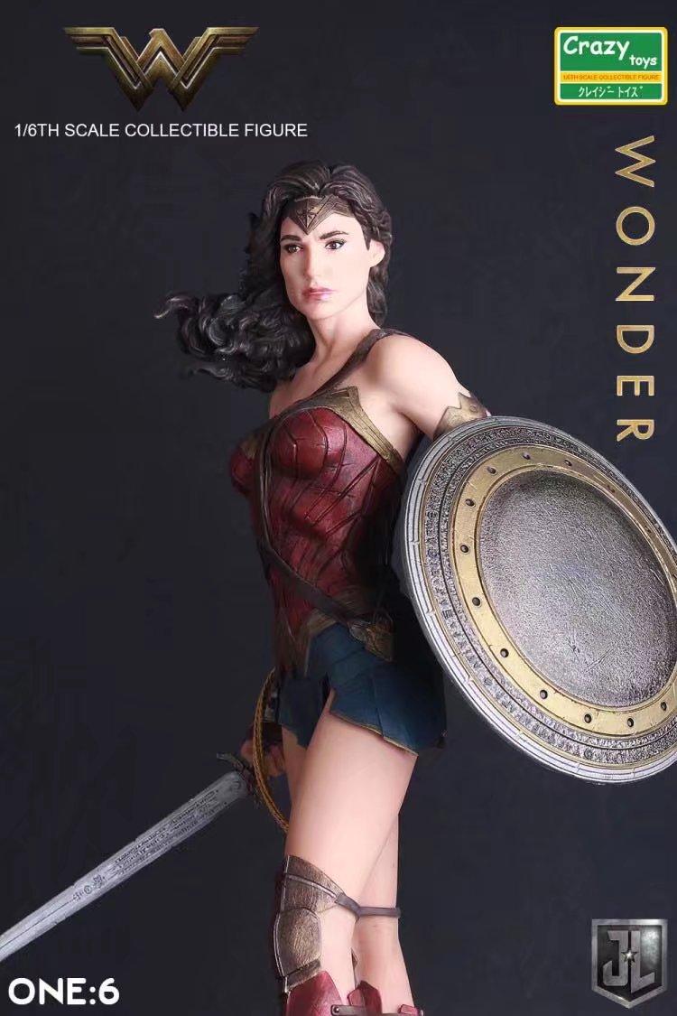 Crazy Toys 1 6 DC Justice League Super Hero Wonder Woman PVC Action Figure Collectible Model