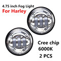 "2pcs 4.5"" Motorcycle Auxiliary LED Fog Lights Harley Led Fog Lamp 4.5inch Passing Lamps Work Driving Daymaker Lamp Bulb Harley"