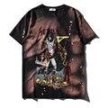 Estilo de Europa 2017 marca o verão nova onda grim Reaper impressão camisetas hip hop Camiseta de algodão dos homens de Banda de Rock Metallica camisa