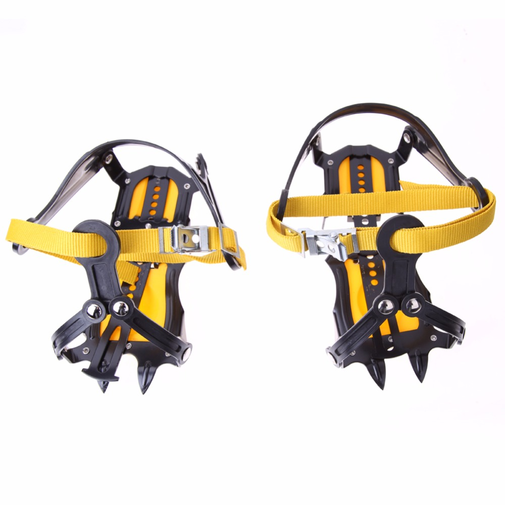 High Altitude Slip-resistant Strong Ice Crampons Ski Snow Crampons Shoes Snow Walker for Climbing Walking Hiking Crampon Foot 1 pair ice gripper slipproof strong ice crampons skiing crampons shoes snow walker for snow mountain climbing walking bag