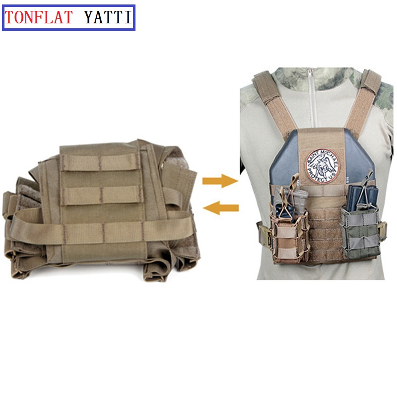 Military Tactical Battlefield Armor Plate Wear 1050D Nylon Vest Molle Army Paintball Airsoft Folding Vest Colete Tatico Militar