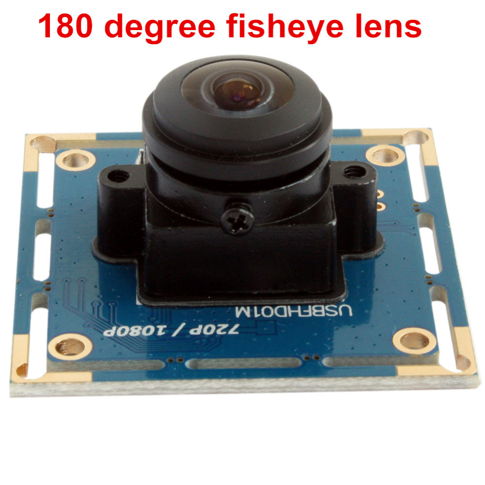 2MP 180 degree fisheye lens usb camera Wide Angle 1080P omnivision OV2710 CCTV video MJPEG 120fps@640*480 USB Camera module