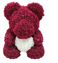 40Cm Teddy Rose Bear Artificial PE Flower Bear Rose Valentine's Day for Girlfriend Women Wife Gift Wedding Decoration