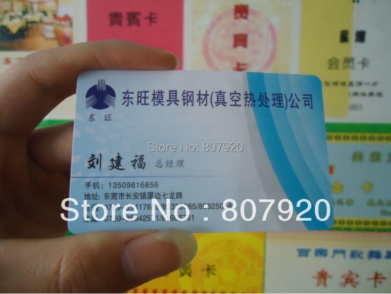 Aliexpress.com : Buy PVC Plastic business card, name card, Opaque ...