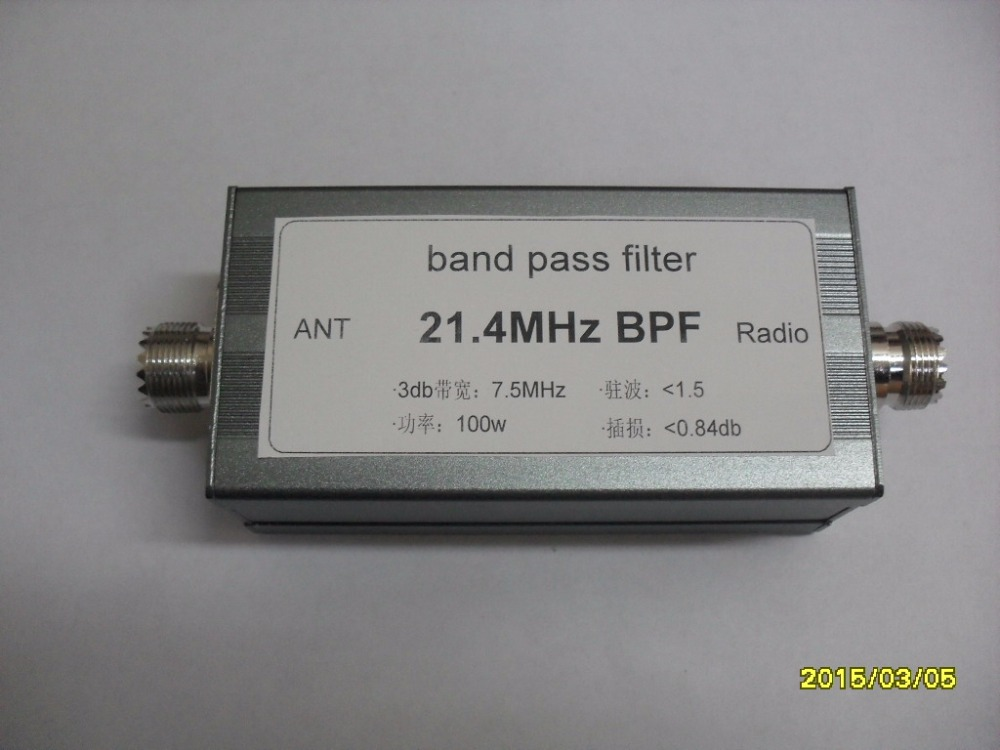 Free shipping 21 4MHz BPF plus 21 400 Shortwave 21 400MHz bandpass filter BPF narrow band high isolation race adjacent frequency in ABS Sensor from Automobiles Motorcycles