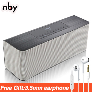 nby 5540 Portable Bluetooth Speaker FM Radio Wireless Sub woofer Loudspeaker 3D Stereo Boombox Dual Speakers Computer Bass TWS(China)