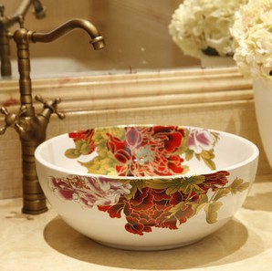 jingdezhen ceramic art decorative bathroom basin sink wash basin -in