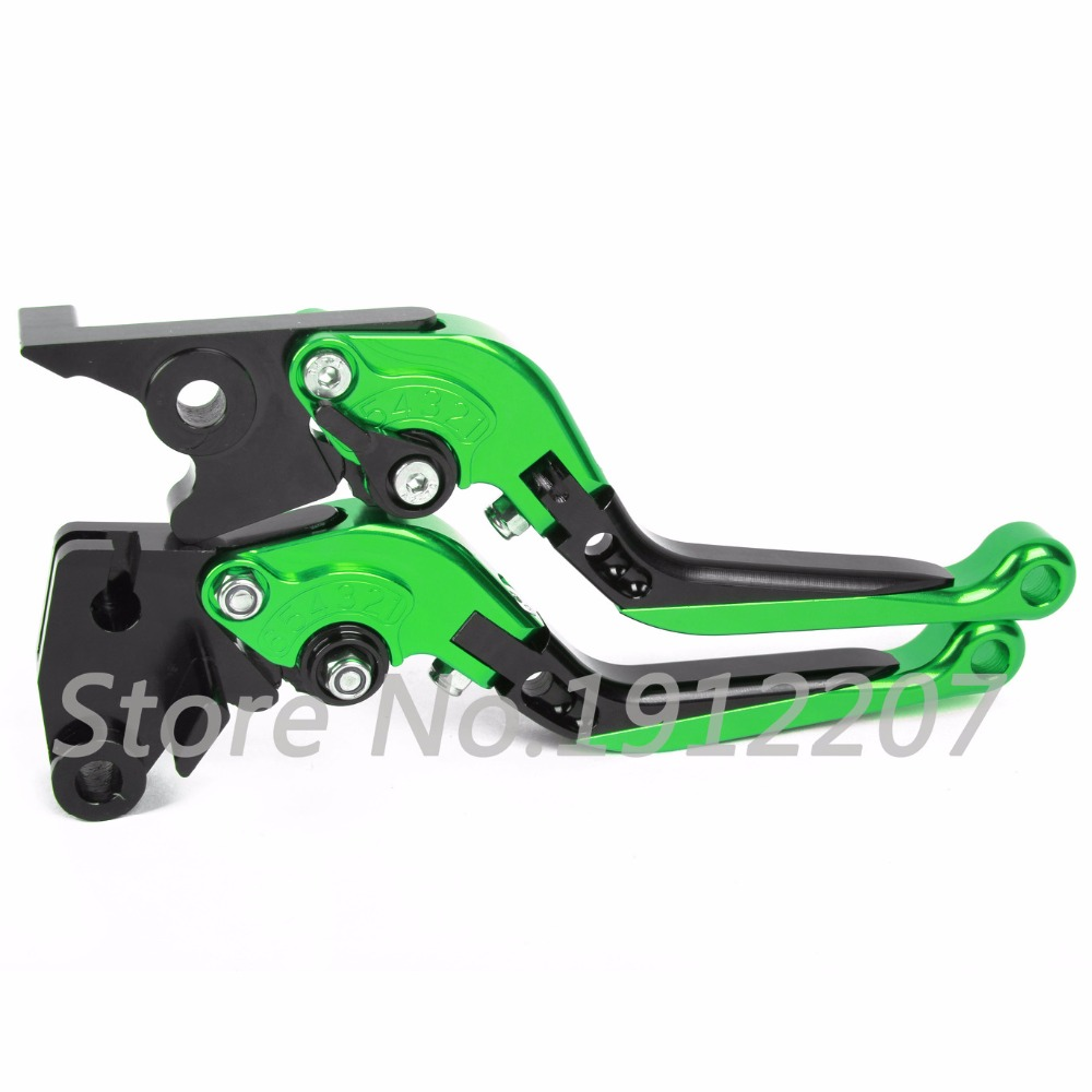 ФОТО For Kawasaki NINJA 300R 2013-2016 Foldable Extendable Brake Clutch Levers CNC Aluminum Alloy High-quality Folding&Extending 2014
