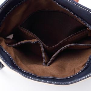 Image 5 - Annmouler Women Patchwork Shoulder Bag 4 Colors Crossbody Bag Tote Bag Three Zipper Messenger Bag High Quality Bolsos Mujer